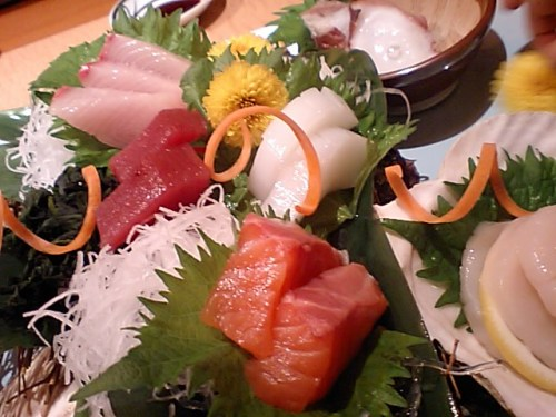 Sashimi with 6 kinds of fish