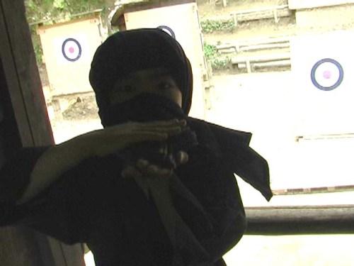 Tatsu tried to throw 'shuriken/ninja weapon'